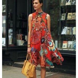 ANTHROPOLOGIE / MAEVE Silk Swing Dress